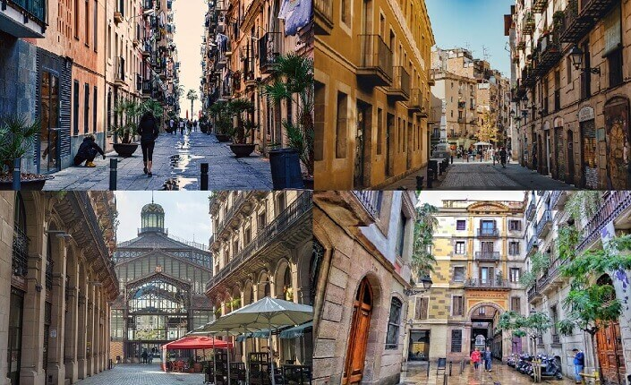 Old Districts Of Barcelona