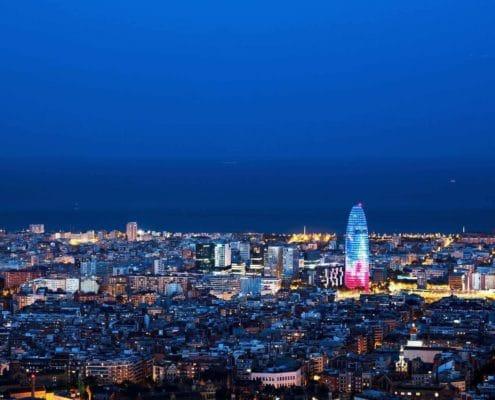 Cosas que hacer en Barcelona, vista de la ciudad por la noche