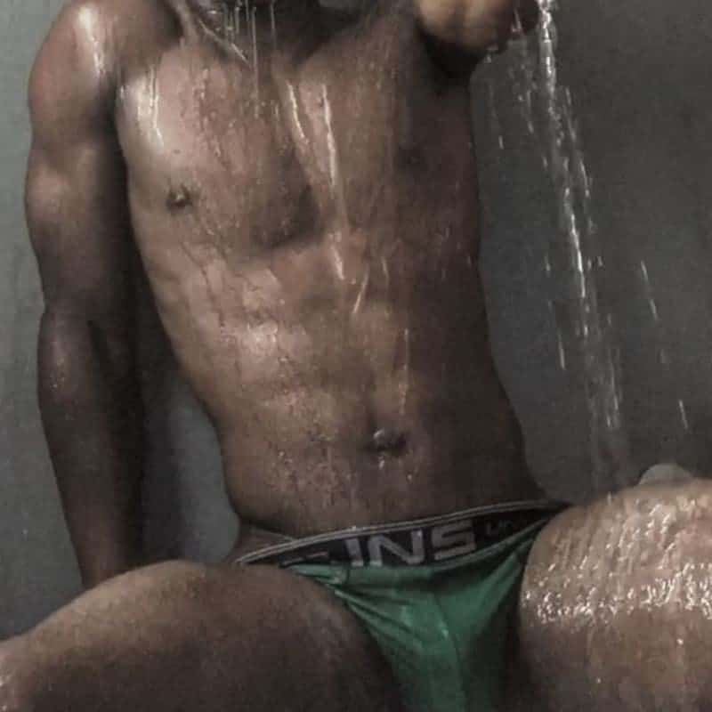 Torny Lanez male stripper in Barcelona in the shower in underwear