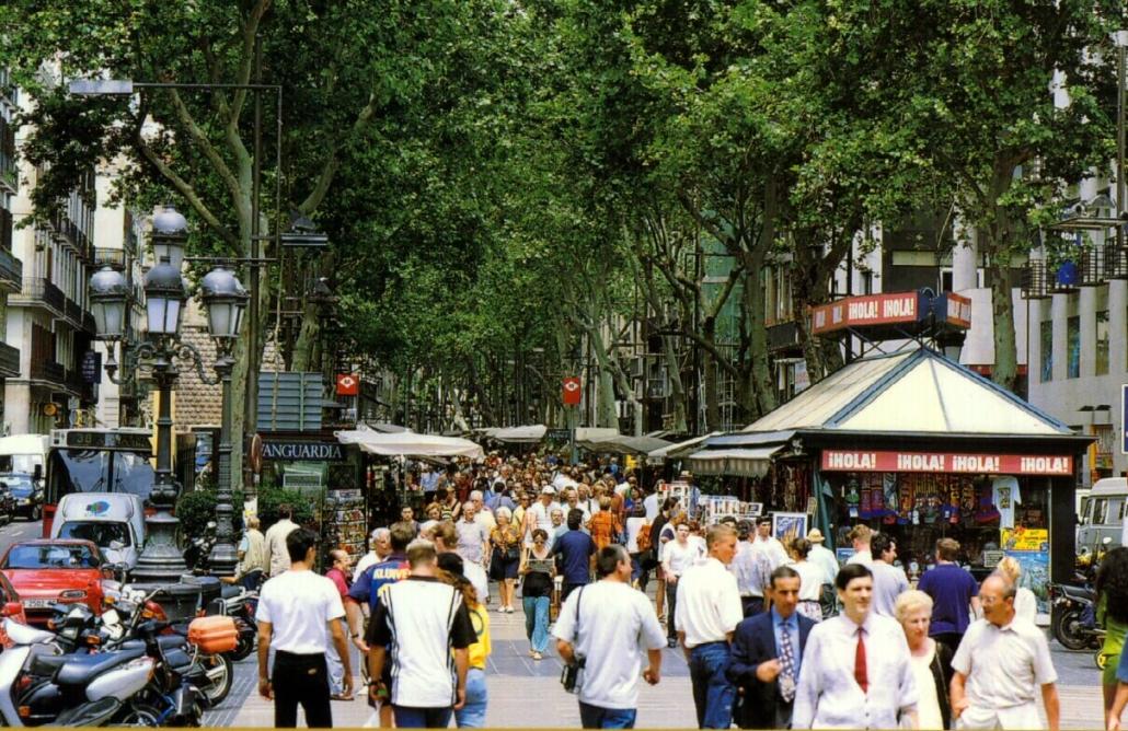 Las Ramblas street in Barcelona