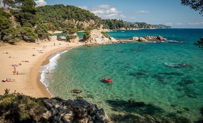 Beach Platja de Treumal Costa Brava Catalonia