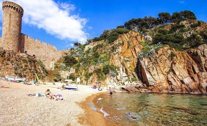 Beach Platja d'es Codolar Costa Brava Beaches Catalonia