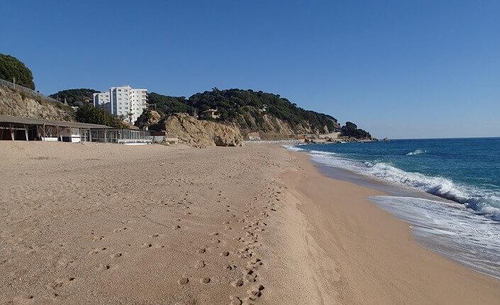 El Morer Beach Sant Pol de Mar Barcelona