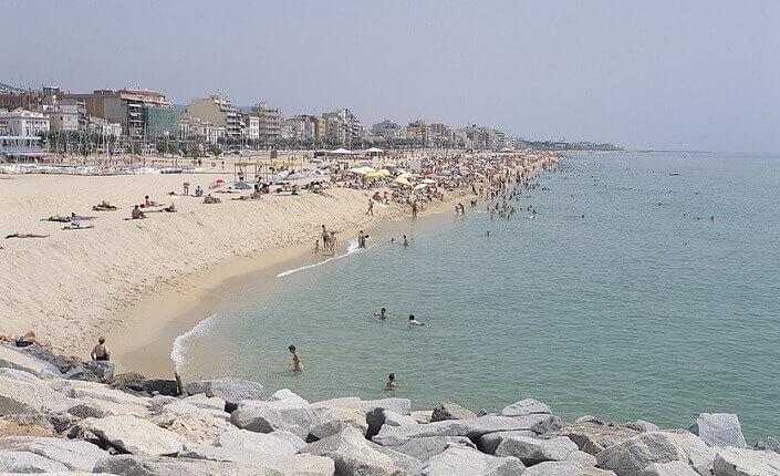 Playa Ocata el Masnou Barcelona
