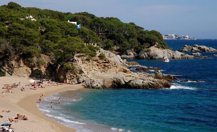 Platja Cala Rovira Costa Brava Cataluña